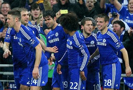 Niềm hạnh phúc của Chelsea khi chiến thắng đã nằm trong tầm tay họ