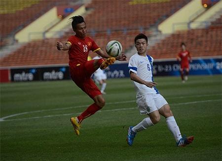 Các cầu thủ U23 Việt Nam đã thắng 7-0 trước U23 Macau, ảnh: Hiểu Minh