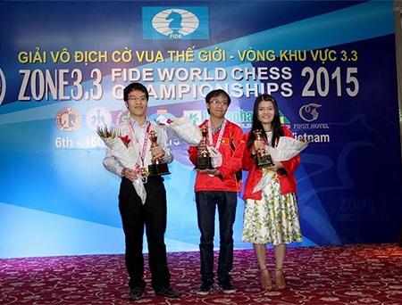 Ba kỳ thủ Việt Nam giành vé dự giải cờ vua thế giới 2015