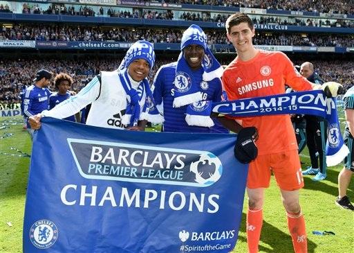 Remy, Zouma và Courtois, những người lần đầu tiên vô địch Premier League
