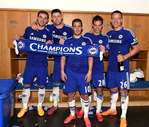 Ivanovic, Cahill, Hazard, Azpilicueta và Terry