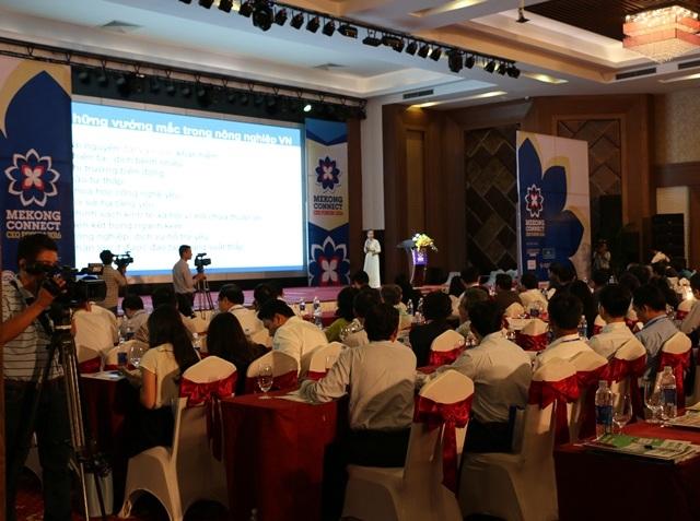Quang cảnh diễn đàn Mekong connect - CEO lần 2 diễn ra tại Cần Thơ ngày 26/10