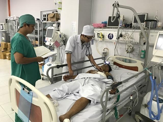 Bệnh nhân V. đã qua cơn nguy kịch nhờ được đưa tới BV cấp cứu kịp thời