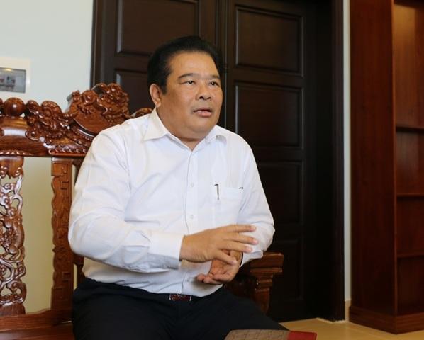 Ông Sơn Minh Thắng - Phó Trưởng ban Thường trực Ban Chỉ đạo Tây Nam Bộ - trao đổi với phóng viên Dân trí chiều 8/12.