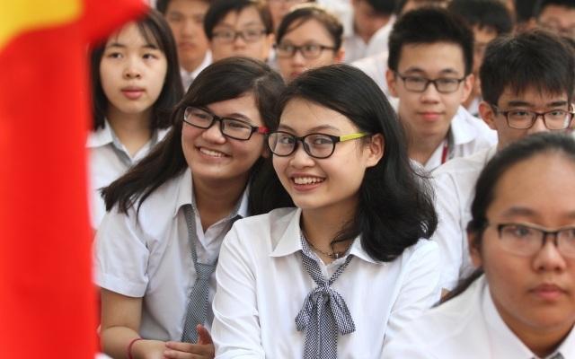 Học sinh Trường THPT chuyên Hà Nội- Amsterdam (ảnh nhà trường)