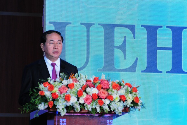 Chủ tịch nước Trần Đại Quang đề nghị 5 vấn đề mà trường ĐH Kinh tế TPHCM cần thực hiện