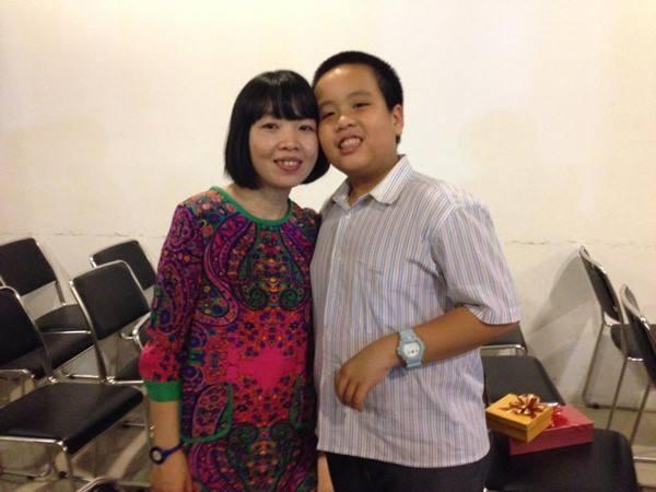 Chị Phan Hồ Điệp và con trai Đỗ Nhật Nam