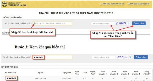 Hà Nội công bố điểm thi lớp 10 THPT 2018 - 2