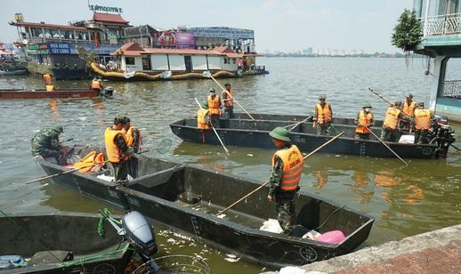 Hà Nội tạm dừng hoạt động bến thủy Hồ Tây do không đảm bảo điều kiện (Ảnh: Hữu Nghị)