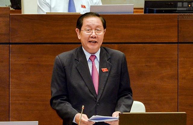Bộ trưởng Bộ Nội vụ Lê Vĩnh Tân (Ảnh: Quochoi.vn)