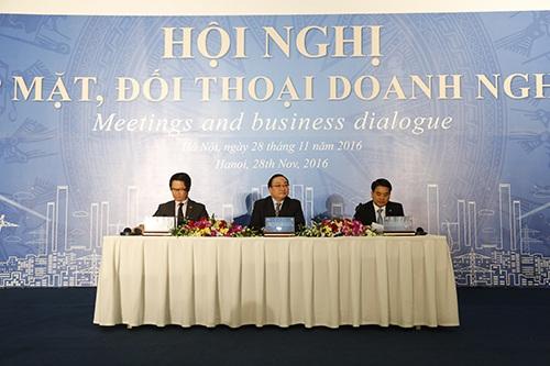 Thành phố Hà Nội phối hợp cùng Phòng Thương mại và Công nghiệp Việt Nam tổ chức Hội nghị Gặp mặt, đối thoại doanh nghiệp năm 2016