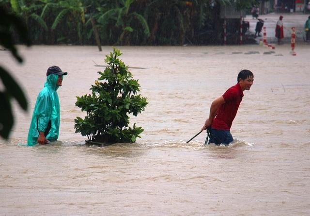 Tuần qua, nhiều tỉnh miền Trung hứng chịu mưa lũ gây thiệt hại lớn về người vừa của. Cụ thể, theo báo cáo của Chi cục Phòng, chống thiên tai khu vực miền Trung và Tây Nguyên đến ngày 2/12, mưa lũ đã làm 4 người chết, 1 người mất tích và 5 người bị thương. (Ảnh: Doãn Công)