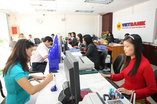 Phòng giao dịch của VietBank.