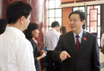 Bộ trưởng Bộ Tài chính Vương Đình Huệ (ảnh: Việt Hưng).