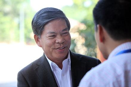 Bộ trưởng Bộ Tài nguyên – Môi trường Nguyễn Minh Quang (ảnh: Việt Hưng).