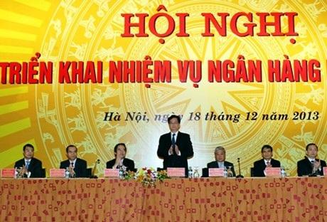 Thủ tướng Chính phủ tham dự hội nghị ngành ngân hàng (ảnh: Chính phủ).