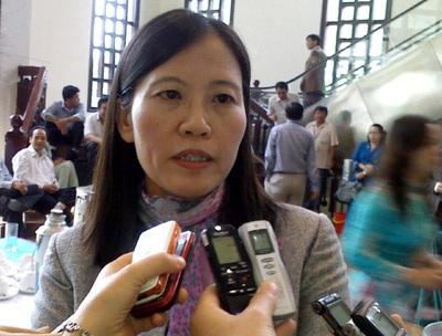 Bà Lê Thị Nga, Phó Chủ nhiệm Ủy ban Tư pháp của Quốc hội (ảnh: Việt Hưng).