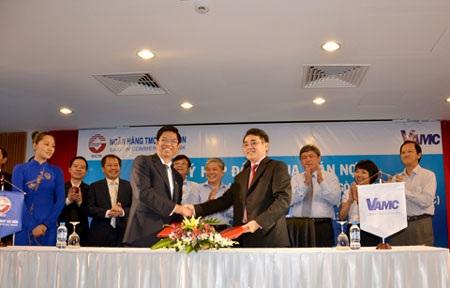 Lễ ký kết giữa SCB và VAMC.