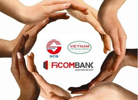 Ngân hàng SCB hợp nhất từ 3 ngân hàng là SCB, Ficombank, TinNghiaBank.