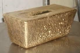 Thanh vàng doré của Công ty TNHH khai thác vàng Bồng Miêu.