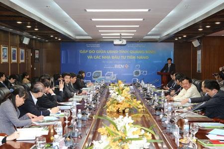 Buổi gặp gỡ giữa tỉnh Quảng Bình và các nhà đầu tư tại Hà Nội.