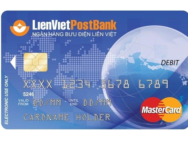 LienVietPostBank phát hành thẻ ghi nợ quốc tế MasterCard Debit