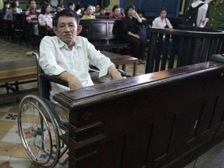 Bị cáo Vương tại phiên tòa