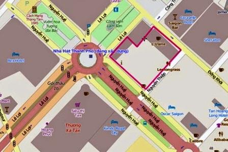 Khu tứ giác vàng tại trung tâm quận 1, TPHCM