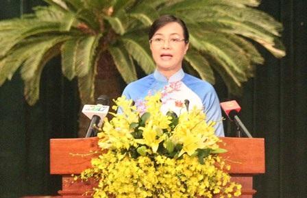 Bà Nguyễn Thị Quyết Tâm, Chủ tịch HĐND TPHCM là người có nhiều phiếu tín nhiệm cao nhất