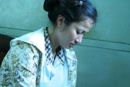Phan Thị Yến lúc vừa bị cơ quan điều tra bắt giữ