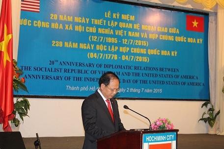 Ông Tất Thành Cang chúc mừng mối quan hệ tốt đẹp giữa Việt Nam - Hoa Kỳ