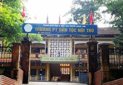 Trường THCS dân tộc nội trú huyện Quan Hóa (Thanh Hóa).