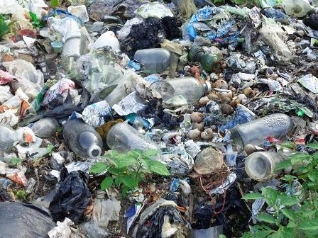 Rác thải y tế cũng nằm la liệt tại bãi rác Kỳ Phú mà không hề được xử lý.