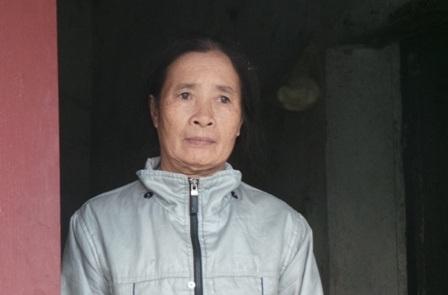 Bà Thiều Thị Hường bị tâm thần bẩm sinh.