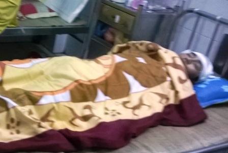 Tài xế Nguyễn Hữu Tư đang đượcđiều trị tại bệnh viện.
