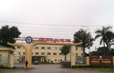 Bệnh viện đa khoa Phúc Thịnh.