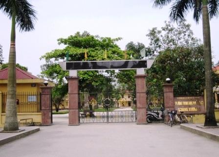 Trường THPT Quảng Xương 1 (huyện Quảng Xương, Thanh Hóa) nơi em Hoàng đang theo học.