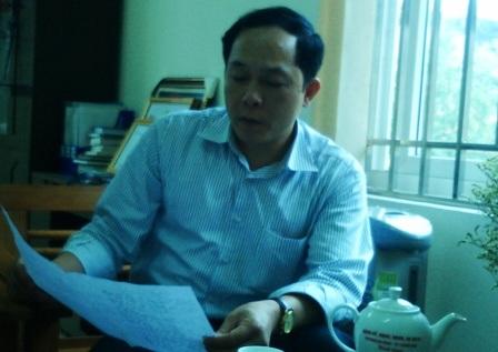 Ông Nguyễn Quang Thắng - Chủ tịch UBND phường Ba Đình cho biết ông chỉ thực hiện ý kiến của trên.