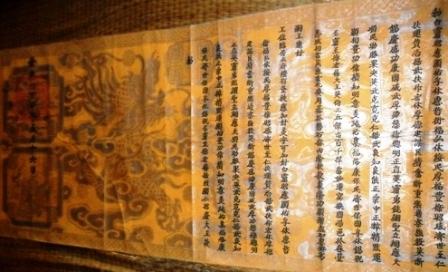 Sắc phong cổ được lưu giữ trong dân.