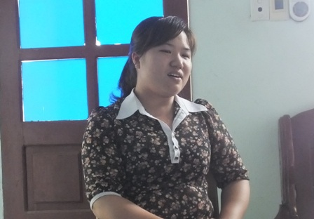 Bà Nguyễn Thị Nhung - cán bộ địa chính xã Ngọc Trạo.