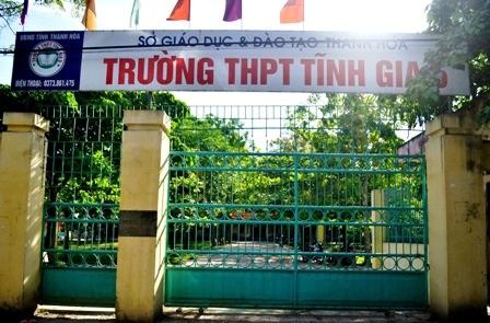 Trường THPT Tĩnh Gia 5, nơi xảy ra vụ việc.