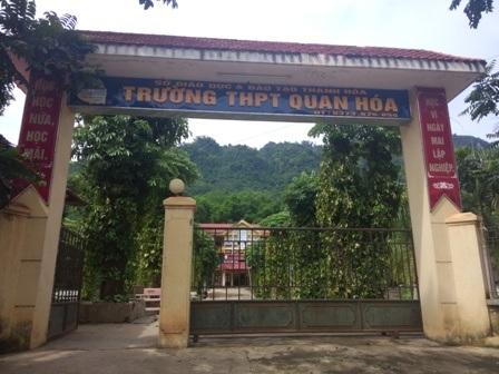 Trường THPT Quan Hóa là điểm thi chung của huyện Quan Hóa (Thanh Hóa).