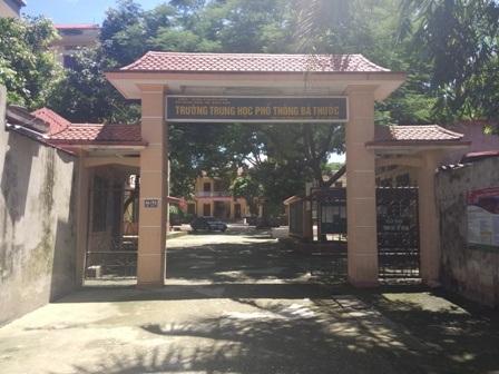 Trường THPT Bá Thước cũng đã hoàn tất các khâu chuẩn bị.