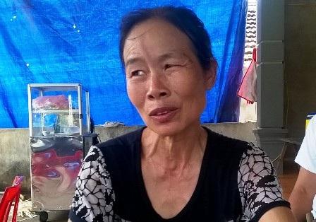 Bà Hương cho biết chưa nhận được tiền hỗ trợ nào.