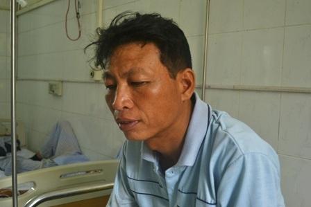 Ông Lê Văn Minh vẫn chưa hết bàng hoàng sau vụ tai nạn.