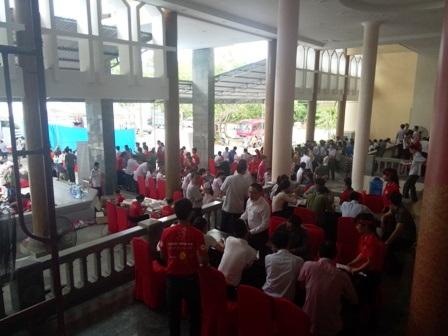 Ban tổ chức đã thu được hơn 1.400 đơn vị máu.
