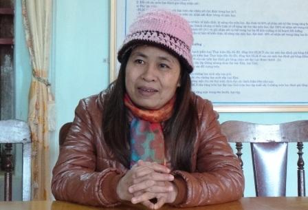 Cô Nguyễn Thị Hương - Hiệu trưởng Trường tiểu học Thiết Ống 1.