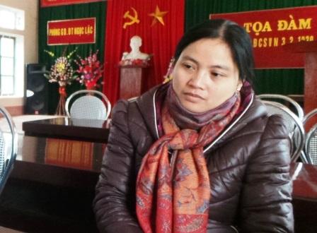 Cô Phạm Thị Thắng - Hiệu phó phụ trách chuyên môn của TrườngTH Minh Sơn 1.