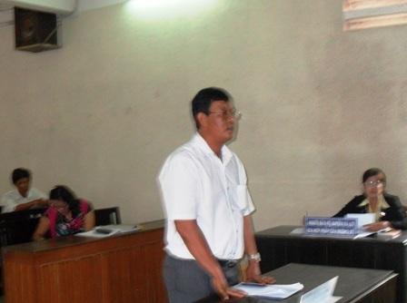 Ông Đào Công Bình, Viện trưởng VKS Tân Hồng nhiều lần hầu toà vị bị doanh nghiệp kiện.
