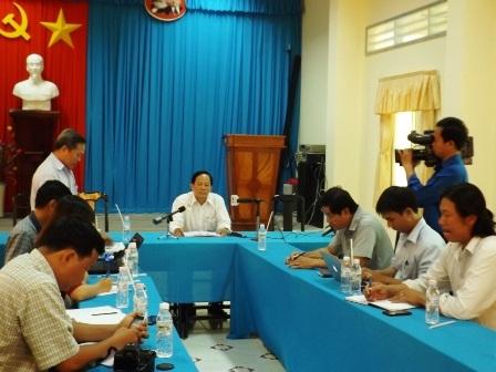 Buổi họp báo được tổ chức tại Sở GD-ĐT tỉnh Trà Vinh.